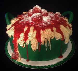 """Pasta Cake"" ""Pot of Pasta and Meatballs"""