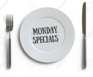 Monday Night dinning specials South Shore South of Boston