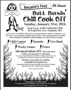 Benjamin's Fund 8th annual Butt Burning Chili Bowl 2016 in Taunton MA
