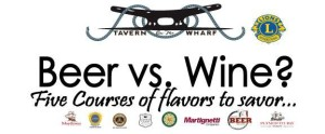 Tavern on the Wharf 5 course Beer vs Wine Dinner in Plymouth MA
