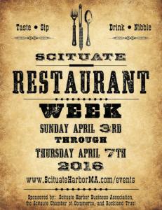 Scituate Restaurant Week 2016
