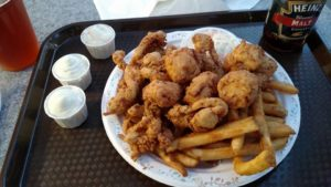 Whole Belly Clams at Tony's Clam shop Wollaston Beach Quincy