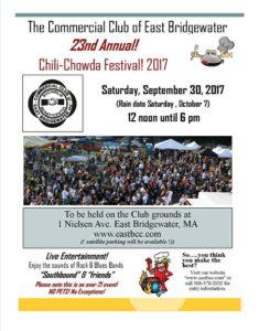 East Bridgewater Commerical Club Chili Chowder Fest 2017