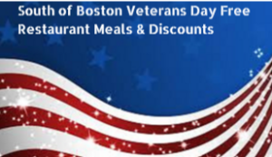 South of Boston Veterans Day Free Restaurant Meals & Discounts 2017