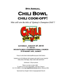 Hough's Neck Chili Bowl Cook Off 2018 in Quincy MA